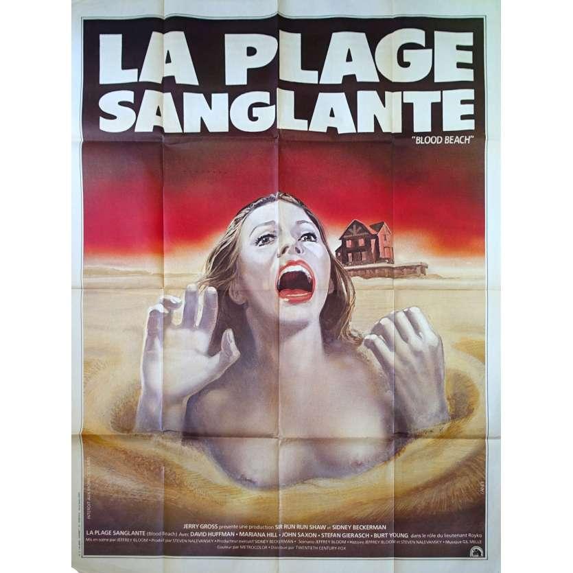LA PLAGE SANGLANTE Affiche de film 120x160 - 1980 - Jeffrey Bloom