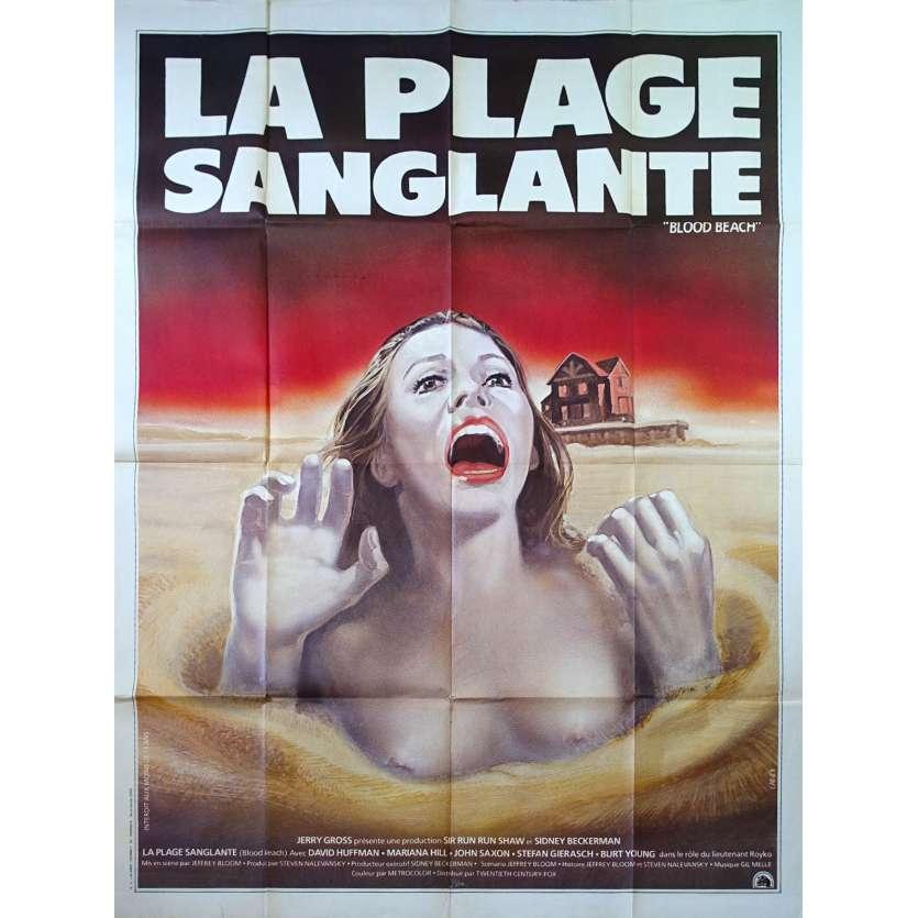 LA PLAGE SANGLANTE Affiche de film 120x160 - 1980 - David Huffman, Jeffrey Bloom