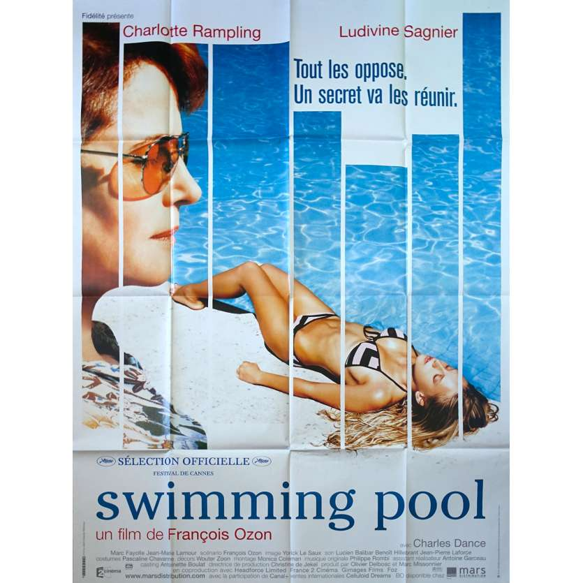SWIMMING POOL French Movie Poster 47x63- 2002 - François Ozon, Ludivine Sagnier