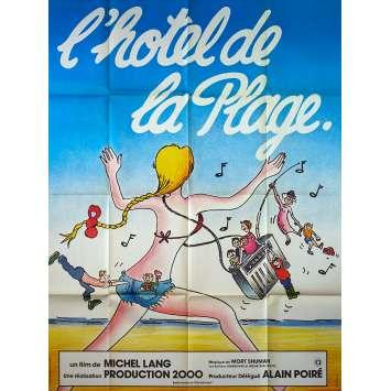 HOTEL DE LA PLAGE Affiche de film 120x160 - 1978 - Daniel Ceccaldi, Michel Lang