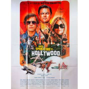 ONCE UPON A TIME IN HOLLYWOOD Affiche de film - 120x160 cm. - 2019 - Leonardo DiCaprio, Quentin Tarantino