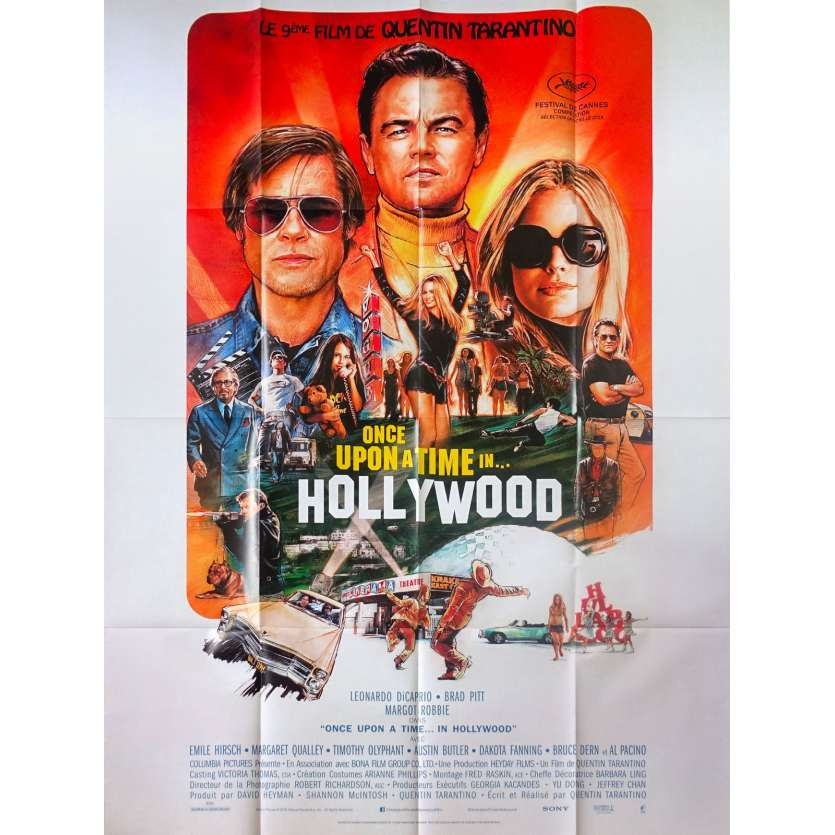 ONCE UPON A TIME IN HOLLYWOOD Original Movie Poster - 47x63 in. - 2019 - Quentin Tarantino, Leonardo DiCaprio