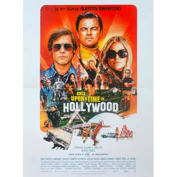 ONCE UPON A TIME IN HOLLYWOOD Affiche de film - 40x60 cm. - 2019 - Leonardo DiCaprio, Quentin Tarantino