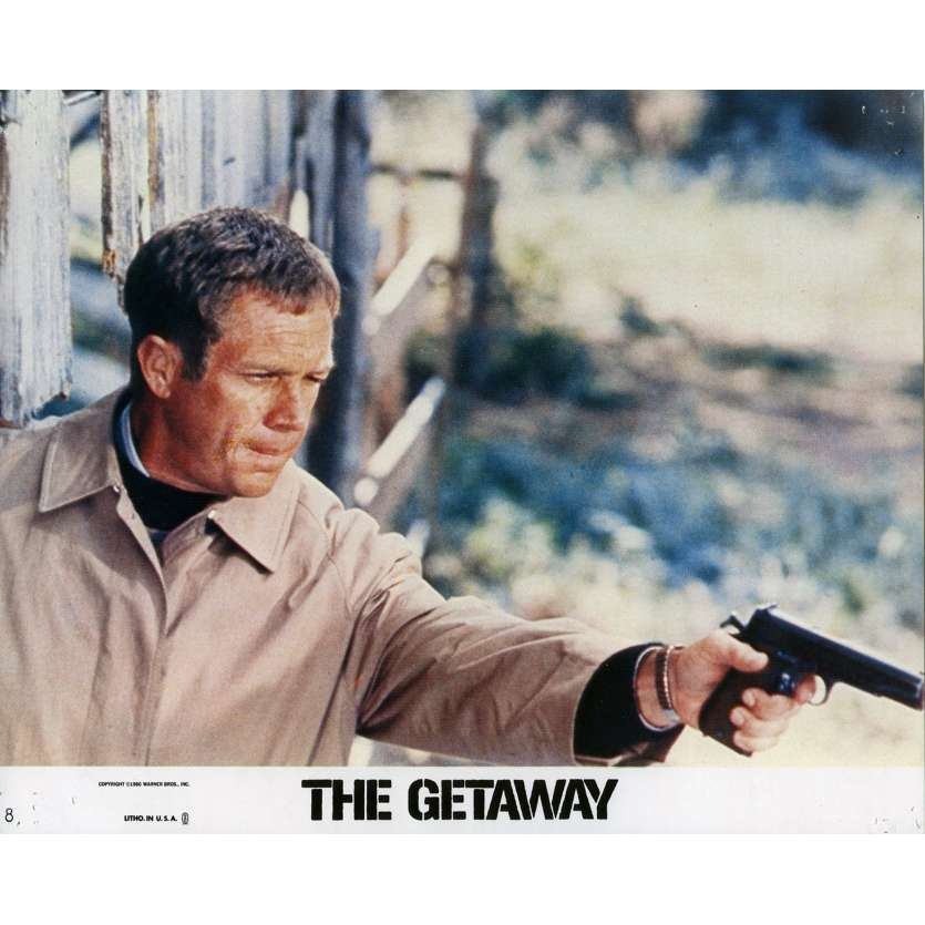 THE GETAWAY Lobby Card 8x10 in. - N08 1972 - Sam Peckinpah, Steve McQueen