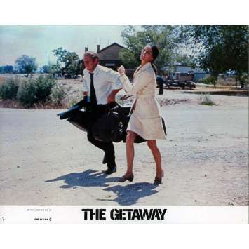 THE GETAWAY Lobby Card 8x10 in. - N07 1972 - Sam Peckinpah, Steve McQueen