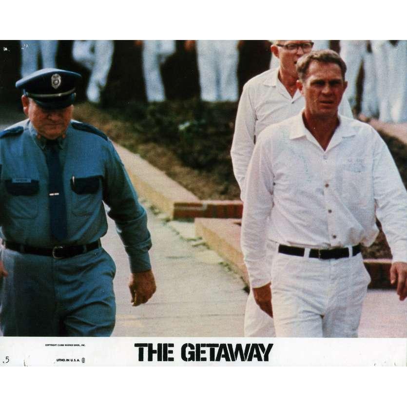 THE GETAWAY Lobby Card 8x10 in. - N06 1972 - Sam Peckinpah, Steve McQueen