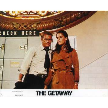 THE GETAWAY Lobby Card 8x10 in. - N04 1972 - Sam Peckinpah, Steve McQueen
