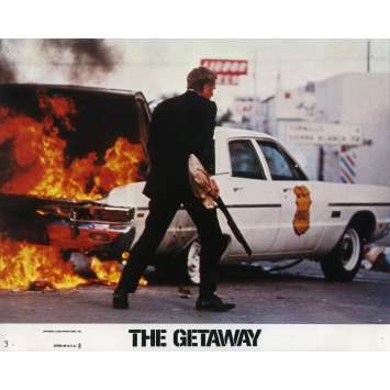 THE GETAWAY Lobby Card 8x10 in. - N03 1972 - Sam Peckinpah, Steve McQueen