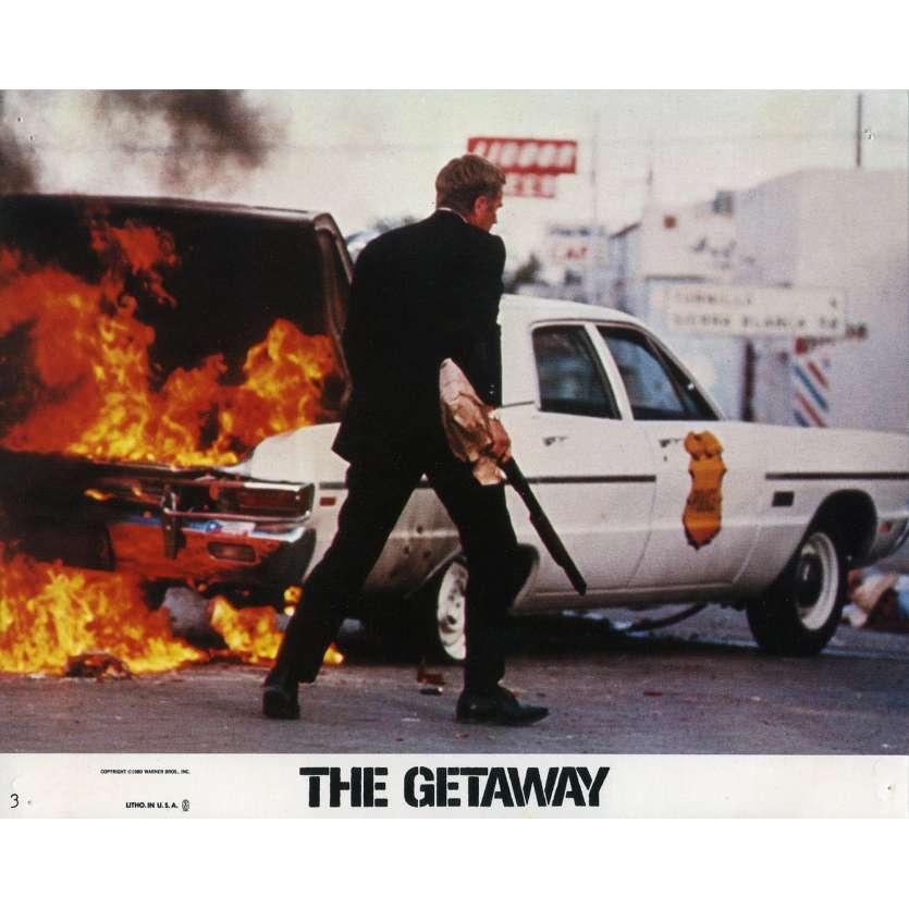 THE GETAWAY Lobby Card 8x10 in. - N03 1972 - Sam Peckinpah, Steve McQueen