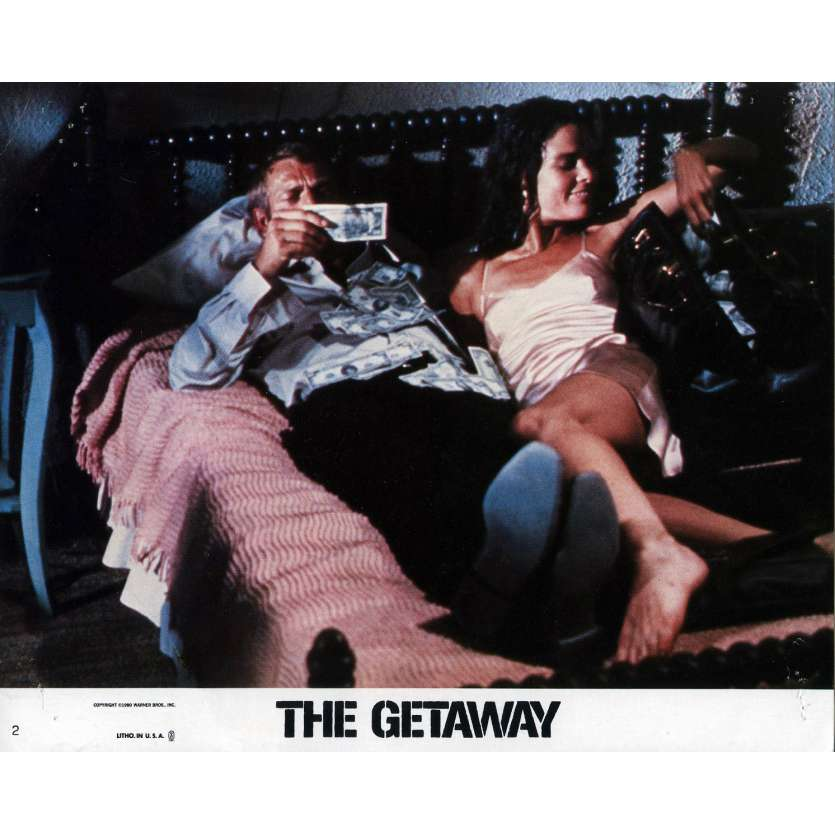 THE GETAWAY Lobby Card 8x10 in. - N02 1972 - Sam Peckinpah, Steve McQueen