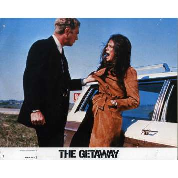THE GETAWAY Lobby Card 8x10 in. - N01 1972 - Sam Peckinpah, Steve McQueen