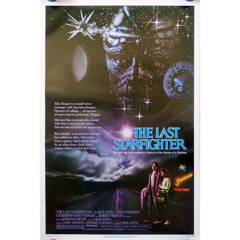 LAST STARFIGHTER 1sh Movie Poster - 1984 - Lance Guest as video game expert pilot!