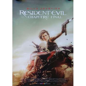 RESIDENT EVIL FINAL CHAPTER Original Movie Poster - 28x40 in. - 2017 - Paul W.S. Anderson, Milla Jovovich