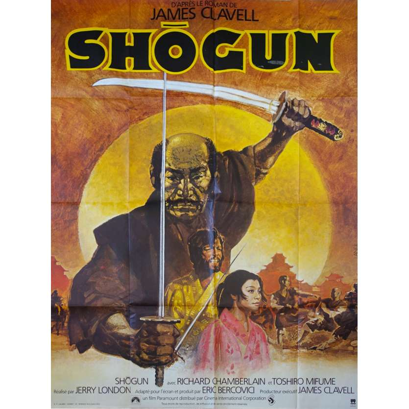 SHOGUN French Movie Poster 47x63 '80 Toshiro Mifune, Richard Chamberlain