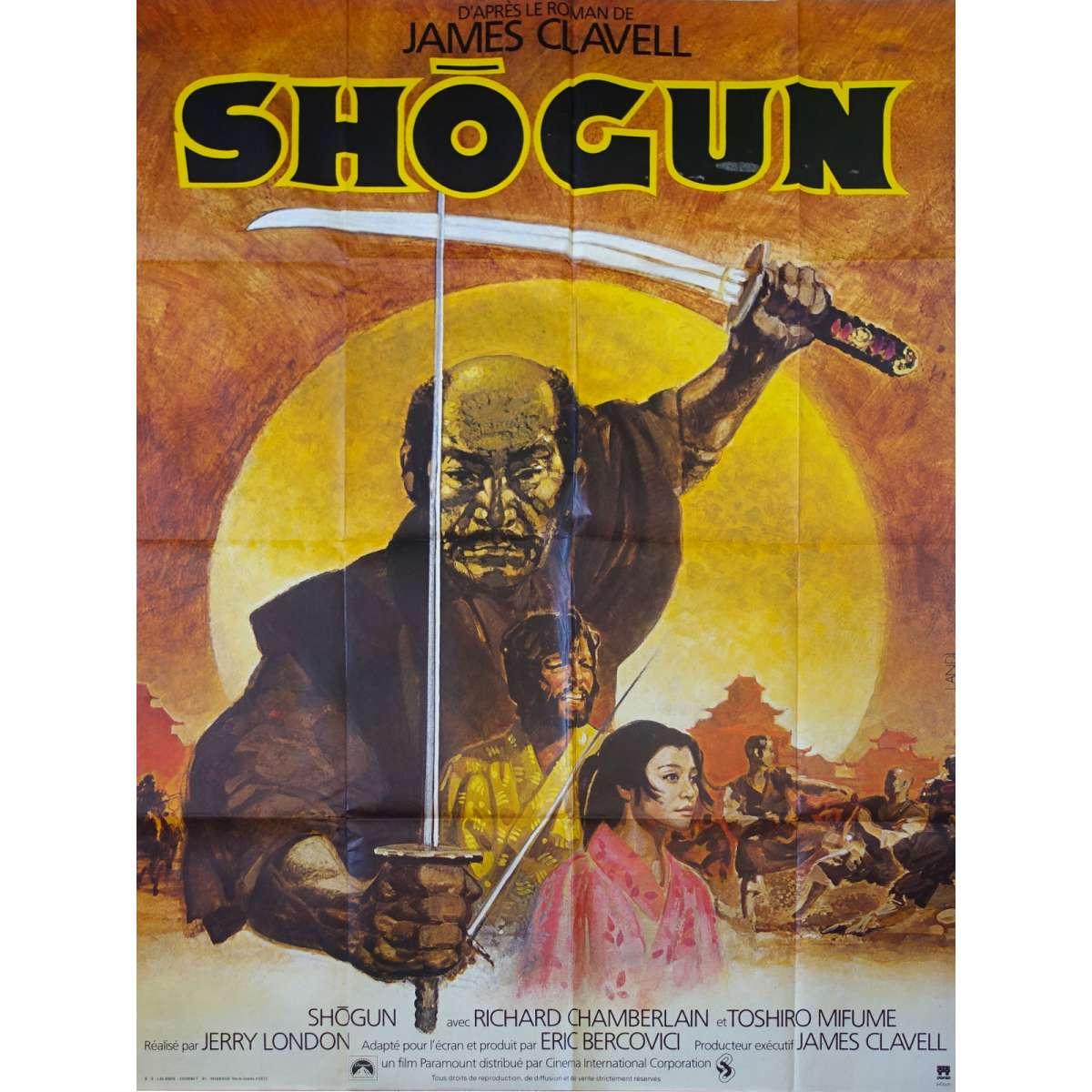 Shogun French Movie Poster 47x63 80 Toshiro Mifune Richard Chamberlain
