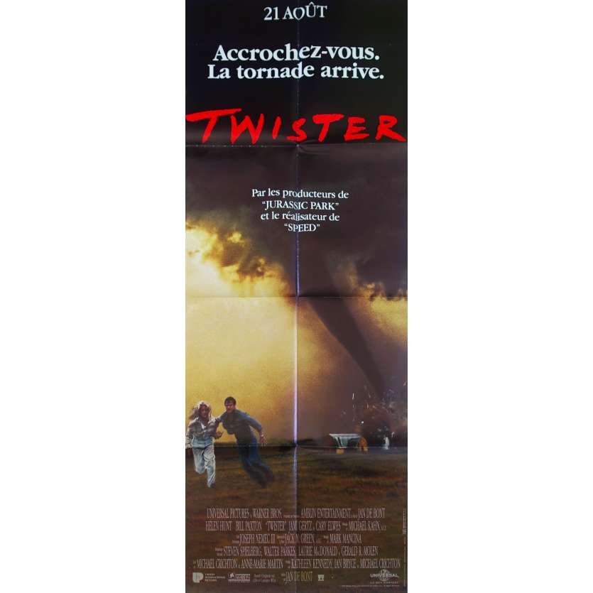 TWISTER French Movie Poster 23x63 '96 Helen Hunt, Bill Paxton