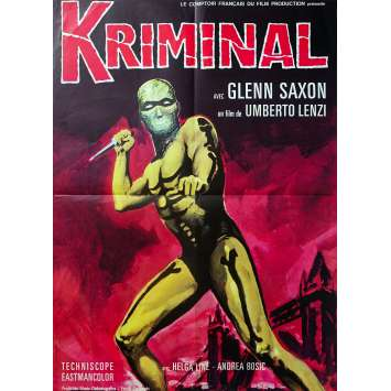 KRIMINAL Affiche de film - 60x80 cm. - 1966 - Glenn Saxon, Umberto Lenzi