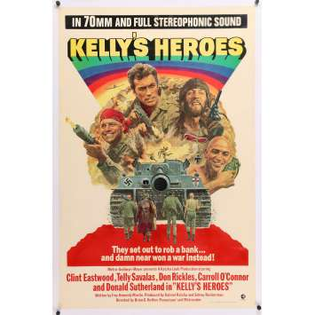 KELLY'S HEROES Original Movie Poster - 27x40 in. - 1970 - Clint Eastwood, Telly Savalas