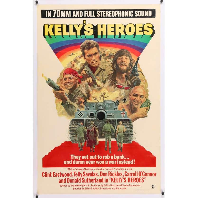 DE L'OR POUR LES BRAVES Affiche de film - 69x102 cm. - 1970 - Telly Savalas, Clint Eastwood