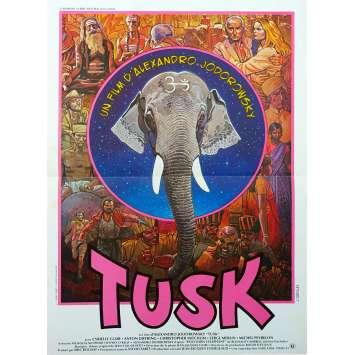 TUSK Original Movie Poster - 15x21 in. - 1980 - Alejandro Jodorowsky, Cyrielle Clair