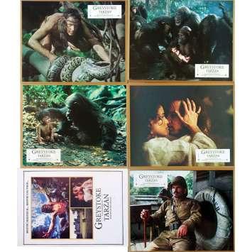 GREYSTOKE Photos de film x5 avec Syn. - 21x30 cm. - 1984 - Christophe Lambert, Hugh Hudson
