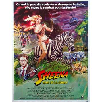 SHEENA Original Movie Poster - 15x21 in. - 1984 - John Guillermin, Tanya Roberts