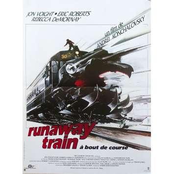 RUNAWAY TRAIN Original Movie Poster - 15x21 in. - 1985 - Andrey Konchalovskiy, Jon Voigt
