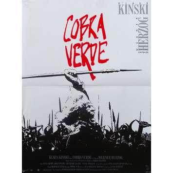 COBRA VERDE Affiche de film - 40x60 cm. - 1987 - Klaus Kinski, Werner Herzog