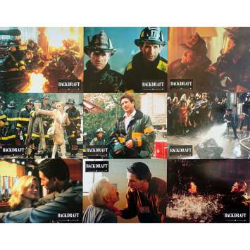 BACKDRAFT Photos de film x9 - 21x30 cm. - 1991 - Kurt Russel, Ron Howard
