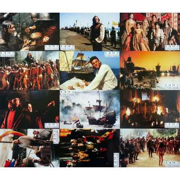 1492 CONQUEST OF PARADISE Original Lobby Cards x12 - 9x12 in. - 1992 - Ridley Scott, Gérard Depardieu