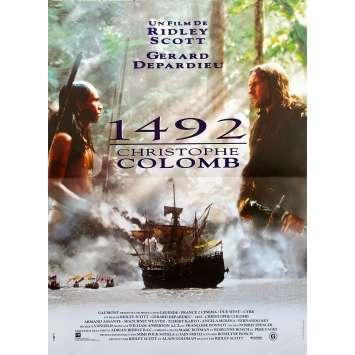 1492 - CHRISTOPHE COLOMB Affiche de film - 40x60 cm. - 1992 - Gérard Depardieu, Ridley Scott