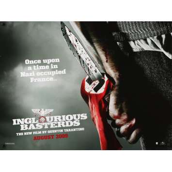 INGLORIOUS BASTERDS Original Movie Poster - 30x40 in. - 2009 - Quentin Tarantino, Brad Pitt