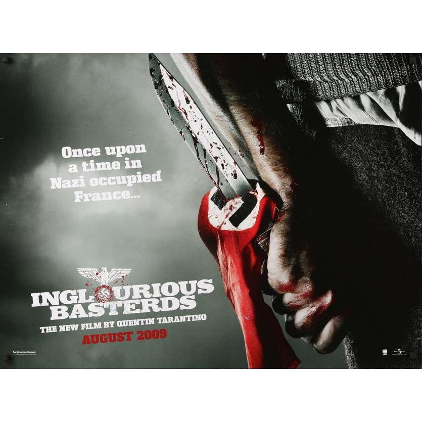 INGLORIOUS BASTERDS Original Movie Poster - 30x40 in. - 2009 - Quentin Tarantino, Brad Pitt