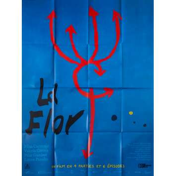 LA FLOR Original Movie Poster - 47x63 in. - 2019 - Mariano Llinás, Elisa Carricajo