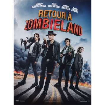 ZOMBIELAND : DOUBLE TAP Original Movie Poster - 15x21 in. - 2019 - Ruben Fleischer, Woody Harrelson