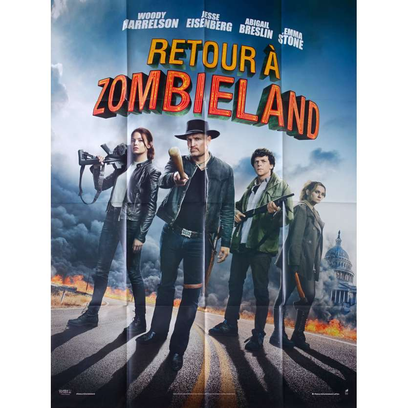 ZOMBIELAND : DOUBLE TAP Original Movie Poster - 47x63 in. - 2019 - Ruben Fleischer, Woody Harrelson