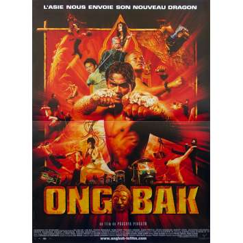 ONG BAK French Movie Poster 15x21 - 2003 - Prachya Pinkaew, Tony Jaa