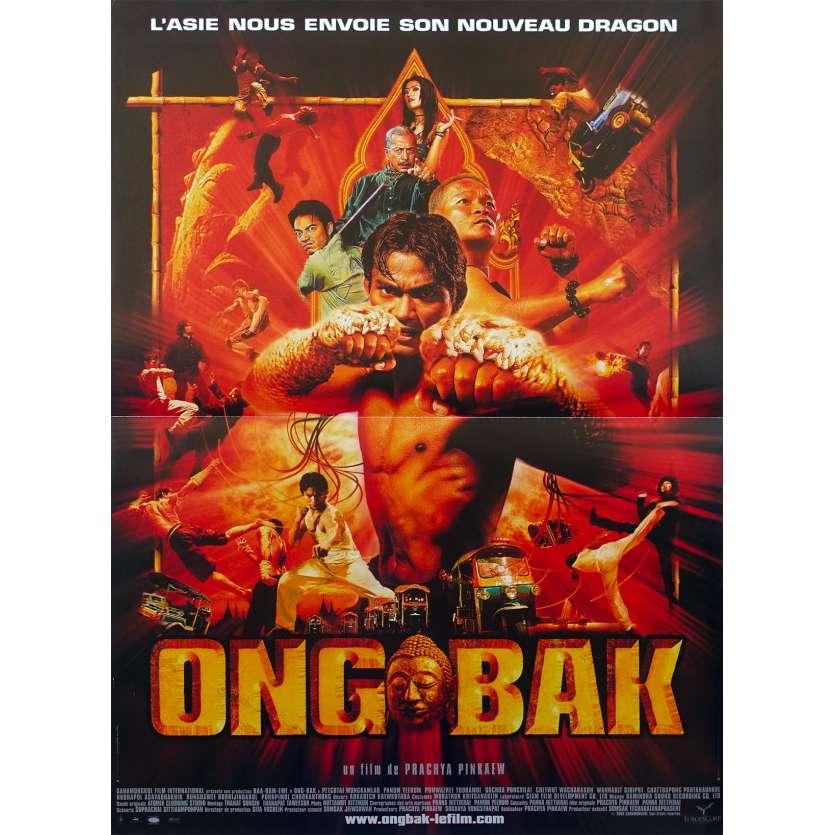 ONG BAK Affiche de film 40x60 - 2003 - Tony Jaa, Prachya Pinkaew