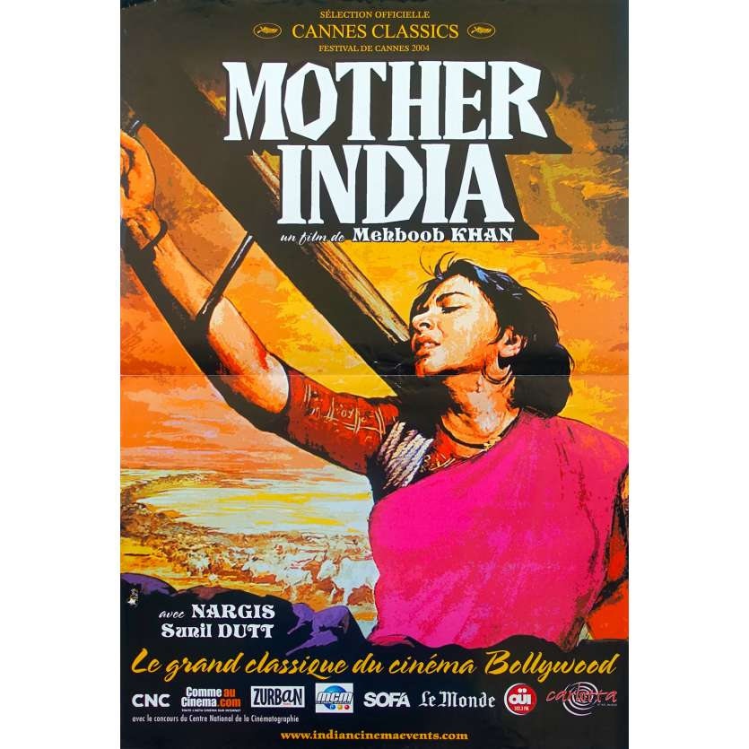 MOTHER INDIA Original Movie Poster - 15x21 in. - 1957 - Mehboob Khan, Nargis