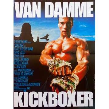 KICKBOXER Original Movie Poster - 15x21 in. - 1989 - Mark DiSalle, Jean-Claude Van Damme