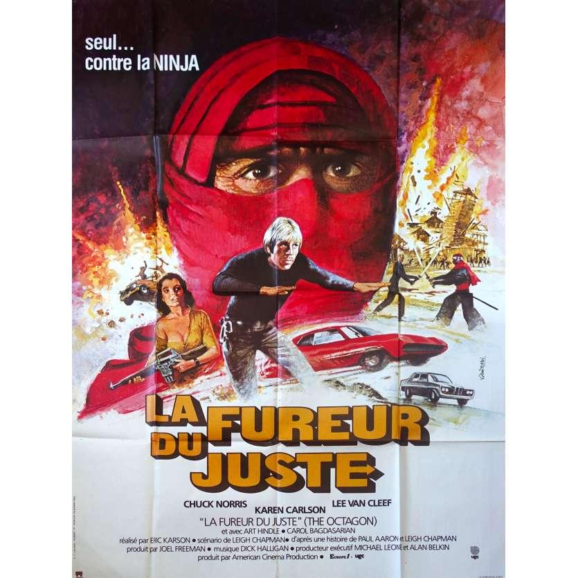 LA FUREUR DU JUSTE Affiche de film - 120x160 cm. - 1980 - Chuck Norris, Eric Karson