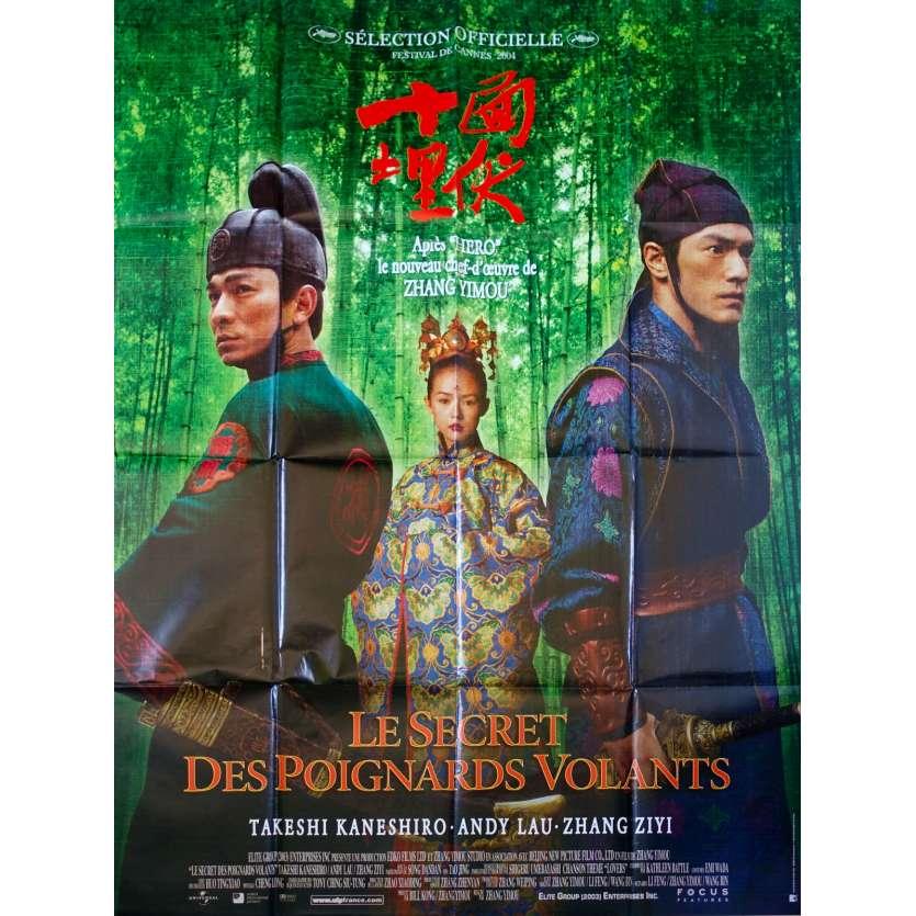 LE SECRET DES POIGNARDS VOLANTS Affiche de film - 120x160 cm. - 2004 - Zhang Ziyi, Zhang Yimou