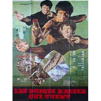 LES DOIGTS D'ACIER QUI TUENT Affiche de film - 120x160 cm. - 1972 - Ching Ching Chang, Tian-Lin Wang