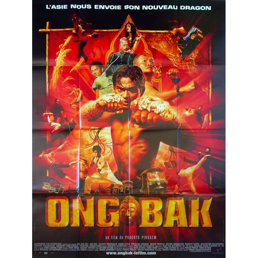 ONG BAK Original Movie Poster - 47x63 in. - 2003 - Prachya Pinkaew, Tony Jaa