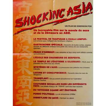 SHOCKING ASIA Original Movie Poster - 23x32 in. - 1981 - Rolf Olsen, Rolf Olsen