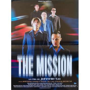 THE MISSION Original Movie Poster - 15x21 in. - 1999 - Johnnie To, Anthony Chau-Sang Wong