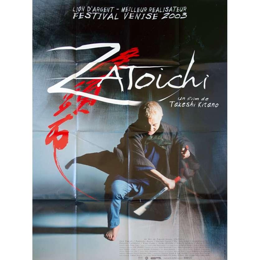 ZATOICHI Affiche de film - 120x160 cm. - 2003 - Tadanobu Asano, Takeshi Kitano