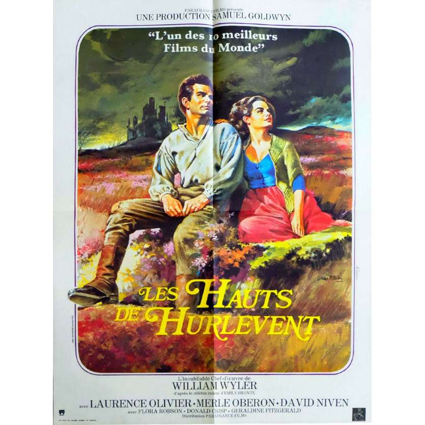 LES HAUTS DE HURLEVENTS Affiche de film 60x80 - R1970 - Laurence Olivier, William Wyler