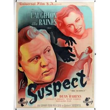 SUSPECT Original Movie Poster - 47x63 in. - 1944 - Robert Siodmak, Dennis Quaid