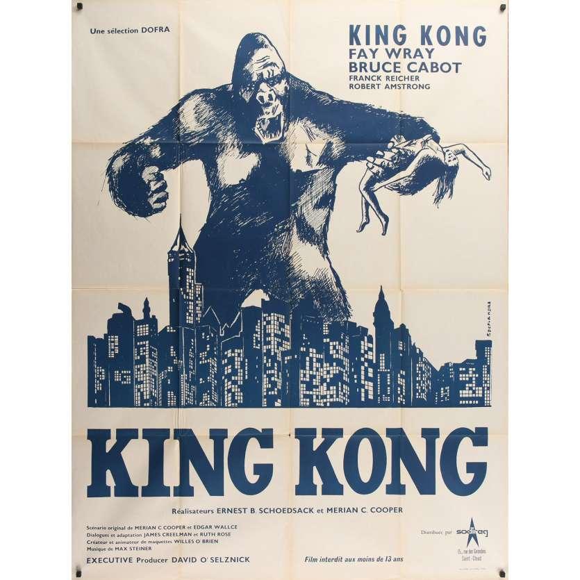 KING KONG Original Movie Still - 47x63 in. - R1960 - Merian C. Cooper, Fay Wray